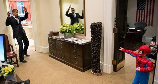 当奥巴马遇见蜘蛛侠