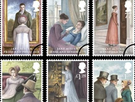 《傲慢与偏见》出版200周年 英国发行简•奥斯汀纪念邮票