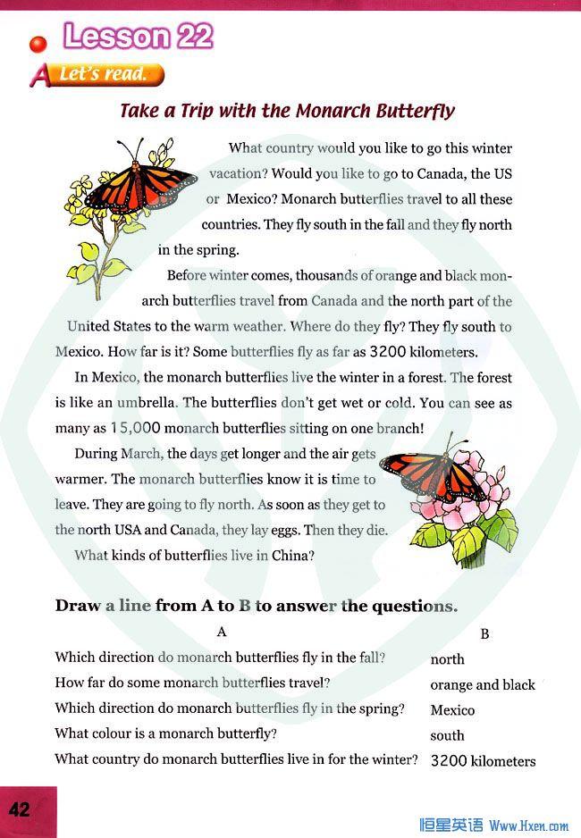 新起点小学英语六年级上册课本Unit 4 Revision Lesson 19