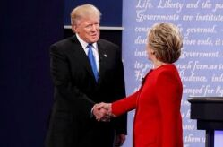 希拉里vs特朗普第一场辩论完整视频