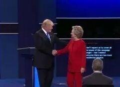 美国大选第二场辩论 希拉里特朗普激烈交锋 中英双语视频