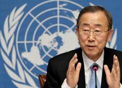 潘基文结束任期告别联合国