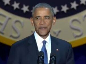 奥巴马告别演讲视频(中英文双语完整版)