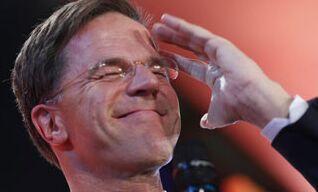 国际英语新闻:PM Rutte leads Dutch exit polls ahead of populist Wilders