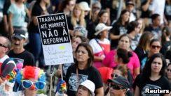 Brazilians Protest against President's Reform Plan