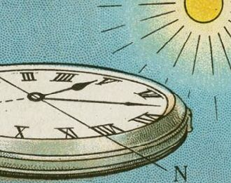 100年前的生活妙招:用手表辨认方向