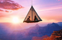 峡谷中挂帐篷、峭壁旁铺睡袋,这些极限露营照是真的吗?