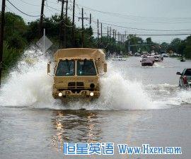 英语访谈节目:哈维飓风重创美国休斯顿