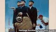 诺曼・洛克威尔画作售出160万美元