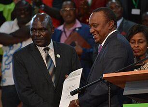 Kenya Kenyatta wins re-election, pledges to unite nation