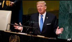 VOA慢速英语:特朗普联合国演讲针对朝鲜伊朗委内瑞拉