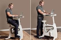 久坐党必备神器:健身单车站立式书桌