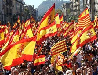 国际英语新闻:Huge pro-Spain rally staged in Barcelona