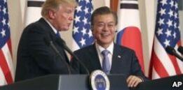 VOA常速英语:Trump in South Korea
