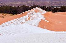 """""""全球最热""""的撒哈拉沙漠下雪了,积雪厚度近半米"""