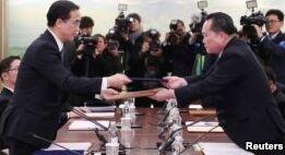 朝韩会面 同意未来举行会谈