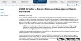 VOA慢速英语:美国移民局修改使命宣言