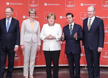 国际英语新闻:Hanover trade fair opens as Germany's Merkel advocates free trade