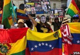 VOA慢速英语:委内瑞拉总统赢得第二个六年任期