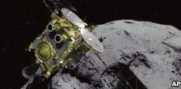 VOA慢速英语:日本航天器到达小行星表面进行研究