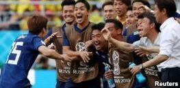 VOA慢速英语:世界杯日本队2:1击败哥伦比亚队