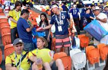 日本球迷又上热搜了 赛后看台捡垃圾引全球关注