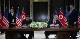VOA慢速英语:韩国讨论暂停联合军事演习