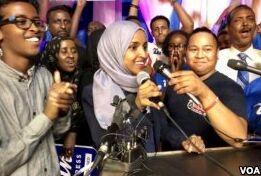 VOA慢速英语:索马里难民赢得美国国会初选