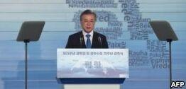 VOA慢速英语:韩国计划今年启动与朝鲜的铁路工程