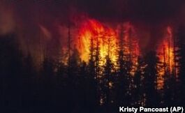 VOA慢速英语:科学家称美国西部高温天气加剧野火