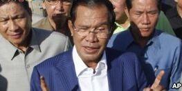 VOA慢速英语:柬埔寨执政党全面控制议会