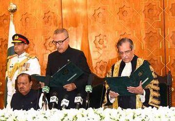 国际英语新闻:Pakistan's new president takes oath