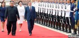 VOA慢速英语:韩国代表团开始在朝鲜举行第一天会谈