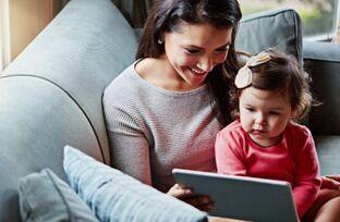 研究表明 学龄前儿童接触联网设备的人数有所增加