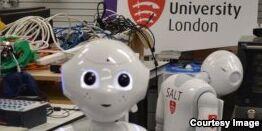 VOA慢速英语:英国议会传召机器人Pepper作证人证引发轰动
