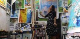 VOA慢速英语:中国努力终结艺术复制品的形象