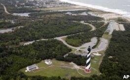 海平面上升威胁历史灯塔