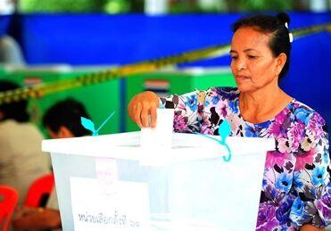 国际英语新闻:Thailand's early voters' turnout reaches 75 pct: Election Commission
