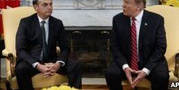 VOA慢速英语:美国和巴西领导人寻求加强两国间贸易关系