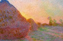 莫奈名画《干草堆》拍出1.1亿美元 创印象派画作价格新高