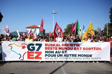 国际英语新闻:Feature: Anti-G7 protest held to express disagreements