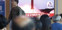 朝鲜发射更多导弹 谴责联合军事演习