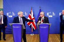 """英国与欧盟达成新""""脱欧""""协议  多个政党说""""不"""""""