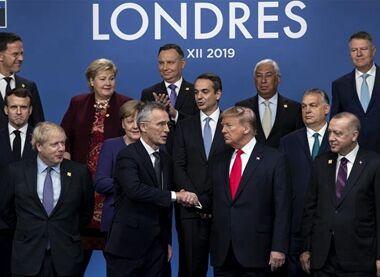 国际英语新闻:NATO leaders meet in Britain amid rows