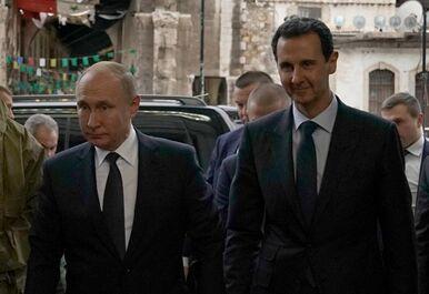 国际英语新闻:Putin visits Damascus, meets Syrian president