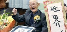 VOA慢速英语:爱笑的日本男人成最年长老人