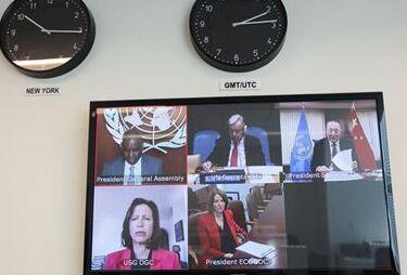 国际英语新闻:Chinese envoy briefs UN member states on work of Security Council in face of COVID-19