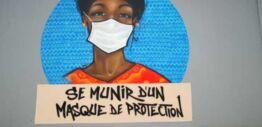 塞内加尔艺术家画壁画以教育人们了解新冠病毒