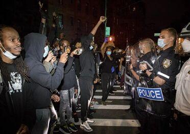 国际英语新闻:Some 200 arrested in violent protests in NYC over death of George Floyd