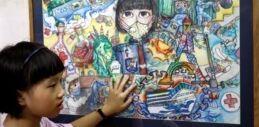 VOA慢速英语:越南女学生画下新冠病毒引发的混乱局面